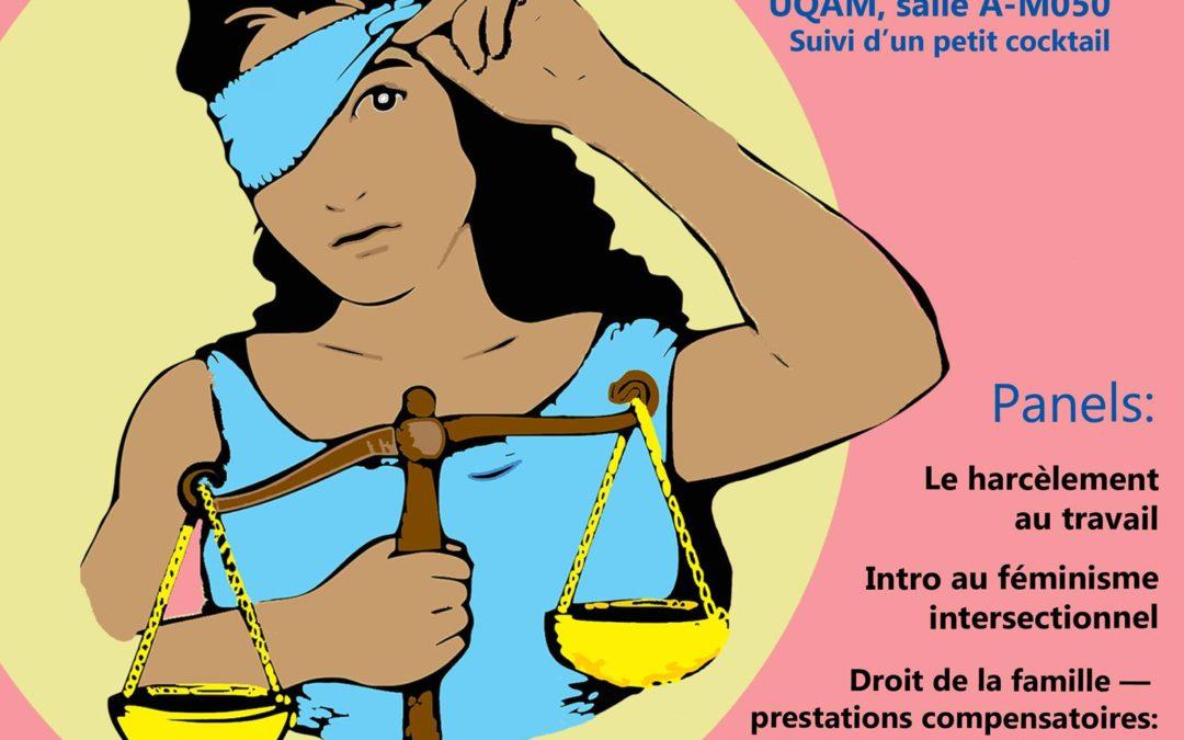 Colloque Féminismes et droit : Première édition – présenté par le Comité féministe de l'AJP