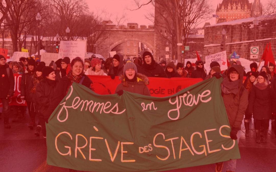 Journée internationale des stagiaires : pour des conditions de travail décentes!