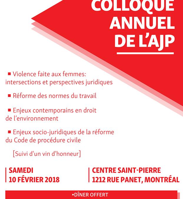 7e Colloque annuel de l'AJP – 10 fév. 2018